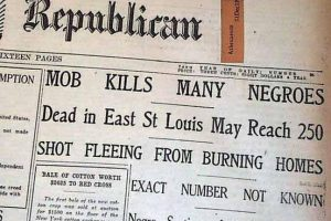 A front page of the St. Louis Missouri Republican newspaper from July 1917.